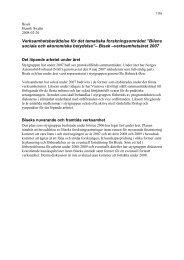 Verksamhetsberättelse för det tematiska forskningsområdet ... - Bisek