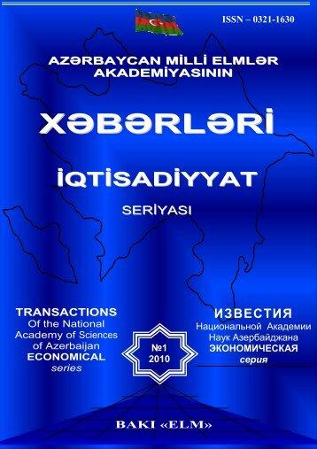 Xəbərlər 2010-N1 - İqtisadiyyat İnstitutu