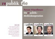 Forum 4 Excellence: Die - Medienkooperation - Republik
