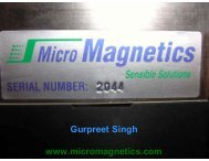Introduction on magnetic field analysis - eufanet