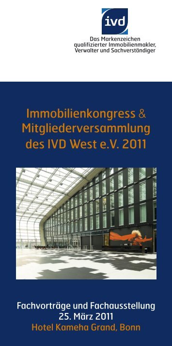 Einladung Immobilienkongress IVD West 2011