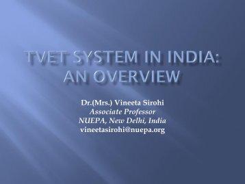 India's TVET System