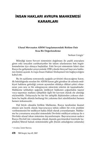 insan hakları avrupa mahkemesi kararları