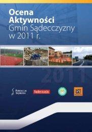 Ocena aktywności gmin Sądecczyzny w 2011 roku - Sądeczanin