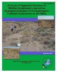 A Survey of Vegetation Recovery on Wildlife Containment Lines and ...