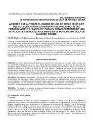 ACUERDO QUE AUTORIZA EL CAMBIO DE USO DE SUELO DE ...