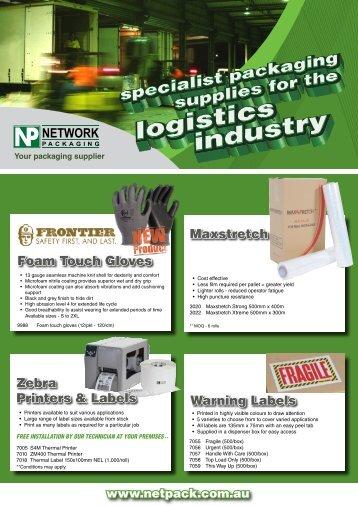 Maxstretch Foam Touch Gloves Warning Labels Zebra Printers ...