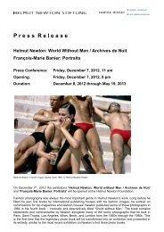Press Release_Helmut Newton_World without ... - Nadine Dinter PR
