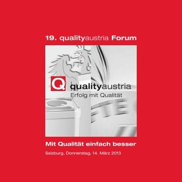 19. qualityaustria Forum