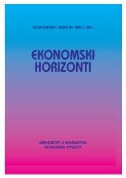 yu issn 1450-863 x godina xiii broj 1 / 2011. - horizonti.ekfak.kg.ac.rs
