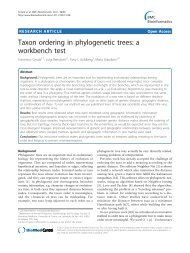 Taxon ordering in phylogenetic trees - University of Wisconsin ...