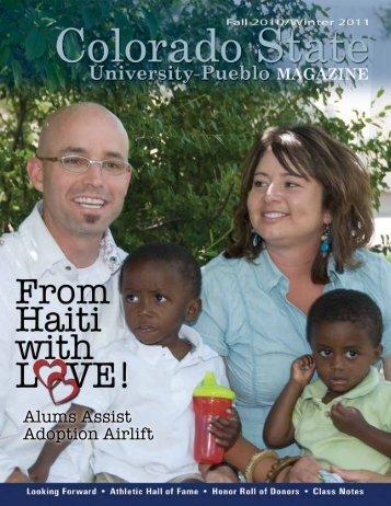 Fall 2010, Spring 2011 CSU-Pueblo Alumni Association Magazine