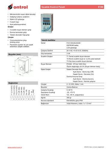 E100 Teknik Katalog