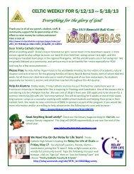 Celtic Weekly for 51213-51813.pdf - Trinity Catholic High School