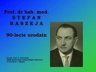 Prof. dr hab. med. Stefan Raszeja - Informator GUMed
