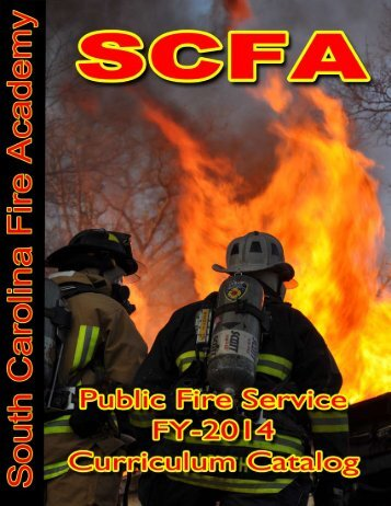 2014 Curriculum Catalog - South Carolina Fire Academy