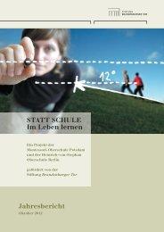 Jahresbericht, Oktober 2012 Download PDF 5,3 MB - Stiftung ...