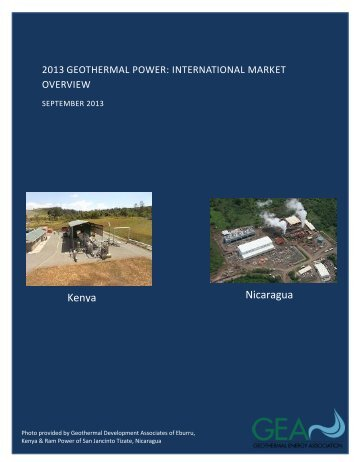 2013 Geothermal Power: International Market Overview