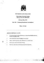 Sidang Akademik 2000 /2001 ARAIIAN I(EPADA ... - ePrints@USM