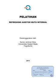 PELATIHAN - Kantor Jaminan Mutu - Universitas Gadjah Mada