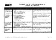 UV self-assessment checklist - WorkSafe Victoria