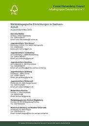 Waldpädagogische Einrichtungen in Sachsen - FSC