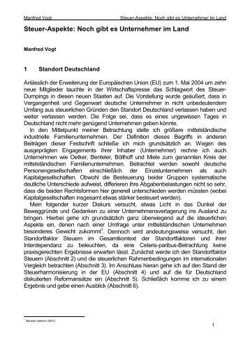 Steuer-Aspekte: Noch gibt es Unternehmer im Land - PKF Fasselt ...