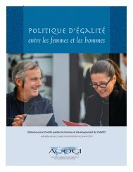 Politique d'égalité entre les femmes et les hommes ( PDF ... - AQOCI