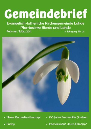 Gemeindebrief Febr.März2011-1.pub - Ev.-luth. Kirchengemeinde ...