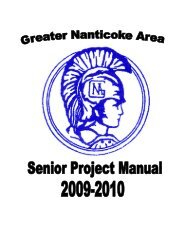 Graduation Project - Greater Nanticoke Area School District
