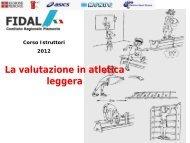 La valutazione in atletica leggera.pdf - Fidal Piemonte