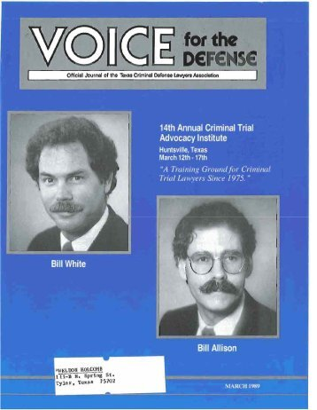 """TrEfki Lawyers Since 197-5. """" - Voice For The Defense Online"""