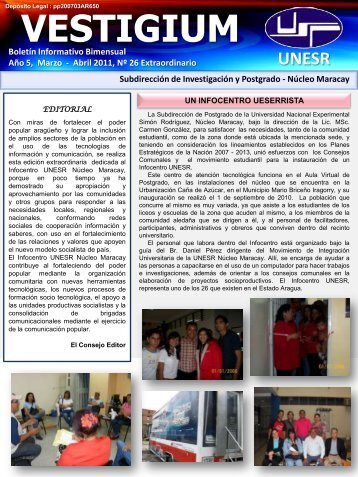 Año 5, Marzo - Universidad Nacional Experimental Simón Rodríguez