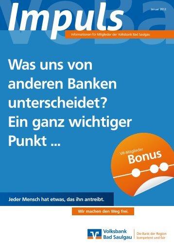 Was uns von anderen Banken unterscheidet? - Volksbank Bad ...