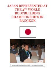 japan represented at the 4th world bodybuilding ... - ABBF