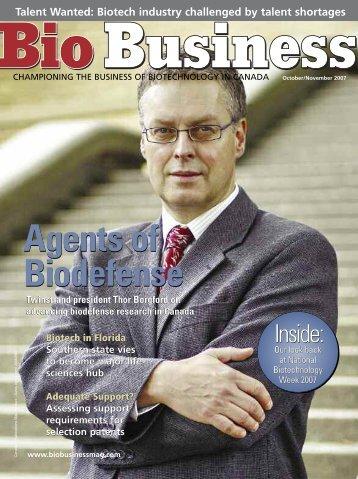Agents of Biodefense Agents of Biodefense - Bio Business