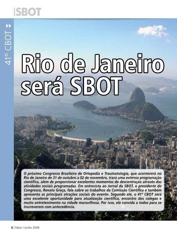 A SBOT - 41º CBOT - Rio 2009