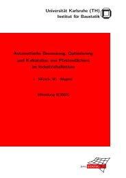 Automatische Bemessung, Optimierung und Kalkulation von ...
