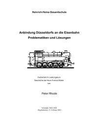 Anbindung Düsseldorfs an die Eisenbahn Problematiken und ...