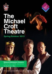 The Michael Croft Theatre Programme - Alleyn's School