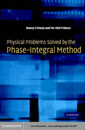 physical problems solved by the phase-integral method - ckw