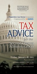 Tax Advice for the Second Obama Administration - Pepperdine ...