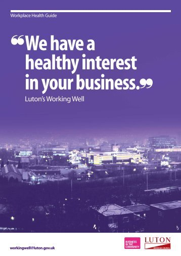 Workplace brochure Apr13 - Luton Borough Council