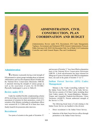 administration, civil construction, plan coordination and budget