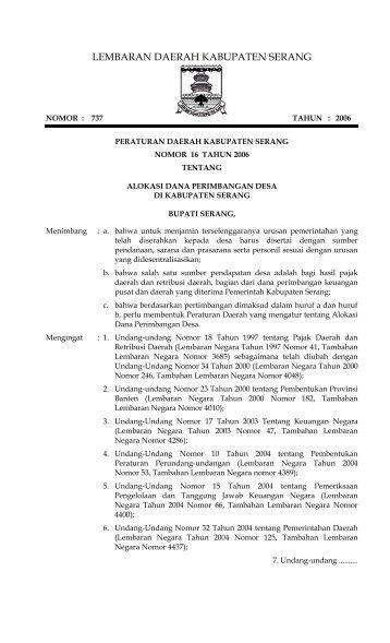 LEMBARAN DAERAH - Mahkamah Konstitusi RI