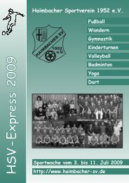 Sportwoche vom 3. bis 11. Juli 2009 - Haimbacher SV