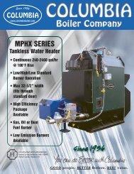 MPHX Specification Sheet - Columbia Boiler