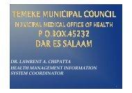 Temeke Municipality - Médecins du Monde