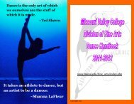 2011-2012 Dance Handbook - Missouri Valley College