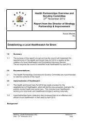Establishing a Local Healthwatch for Brent PDF 101 KB